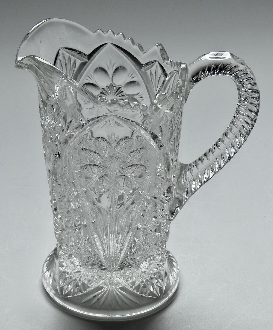 Good Vintage Pressed Glass Water Lemonade Pitcher
