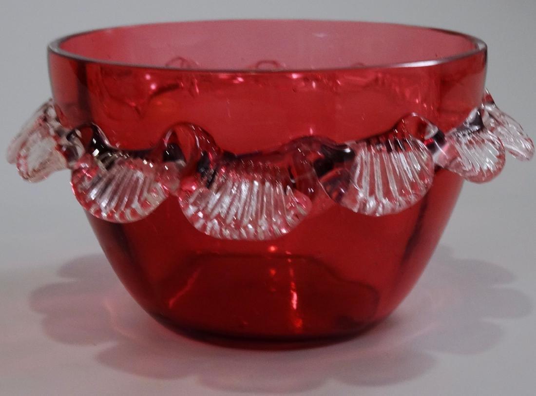 Victorian Cranberry Art Glass Bowl