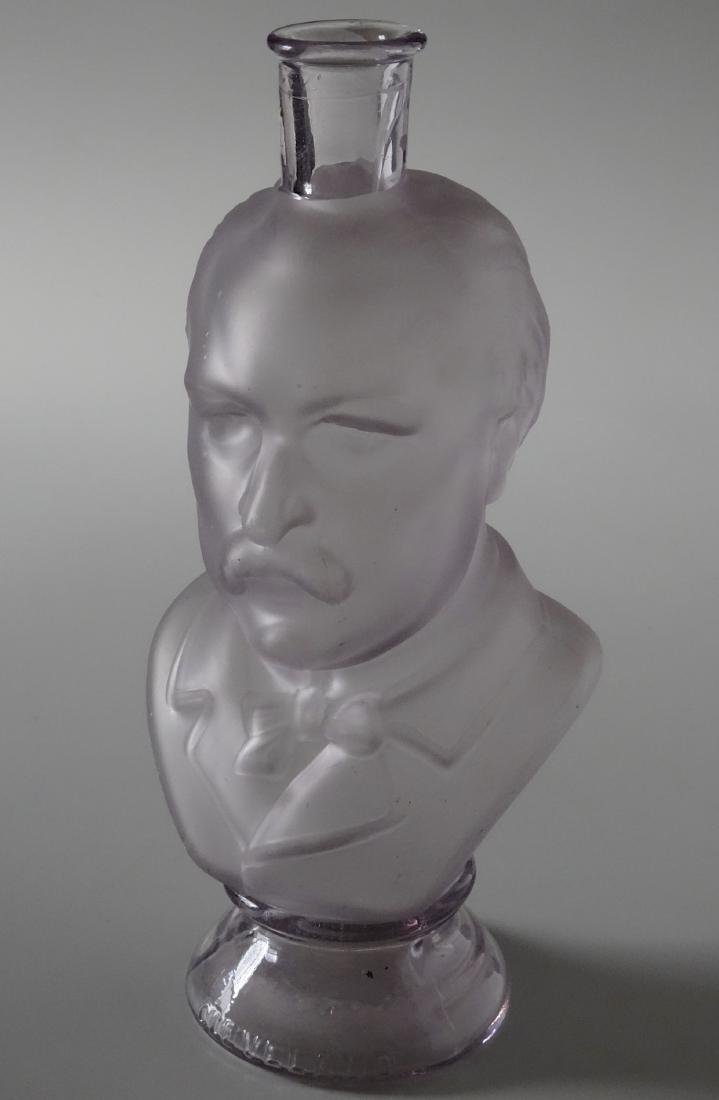 President Grover Cleveland Frosted Glass Figural Bust