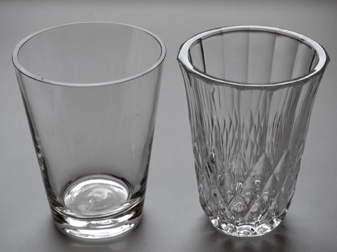 Clear Glass Flower Vase Lot of 2 Vases
