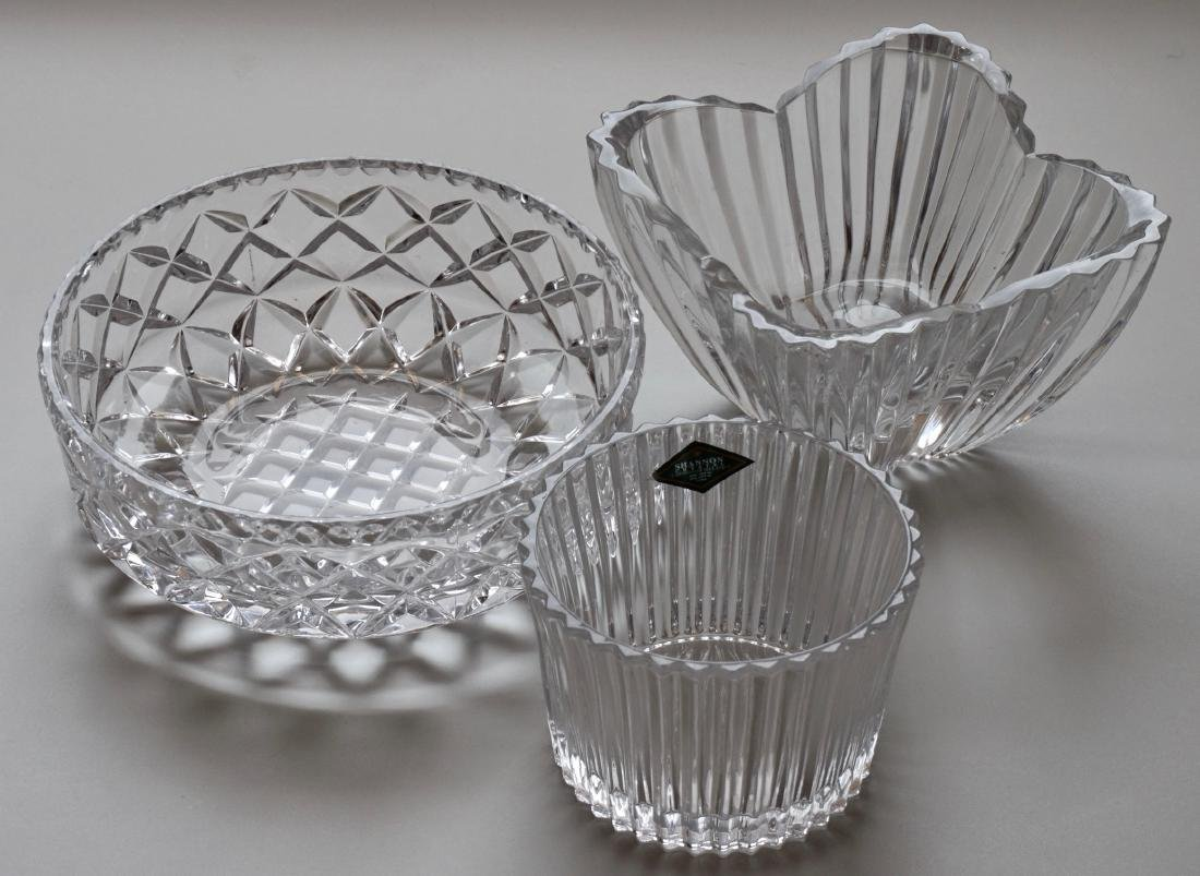 Bowls Irish Crystal Shannon Two Unmarked Clear Glass