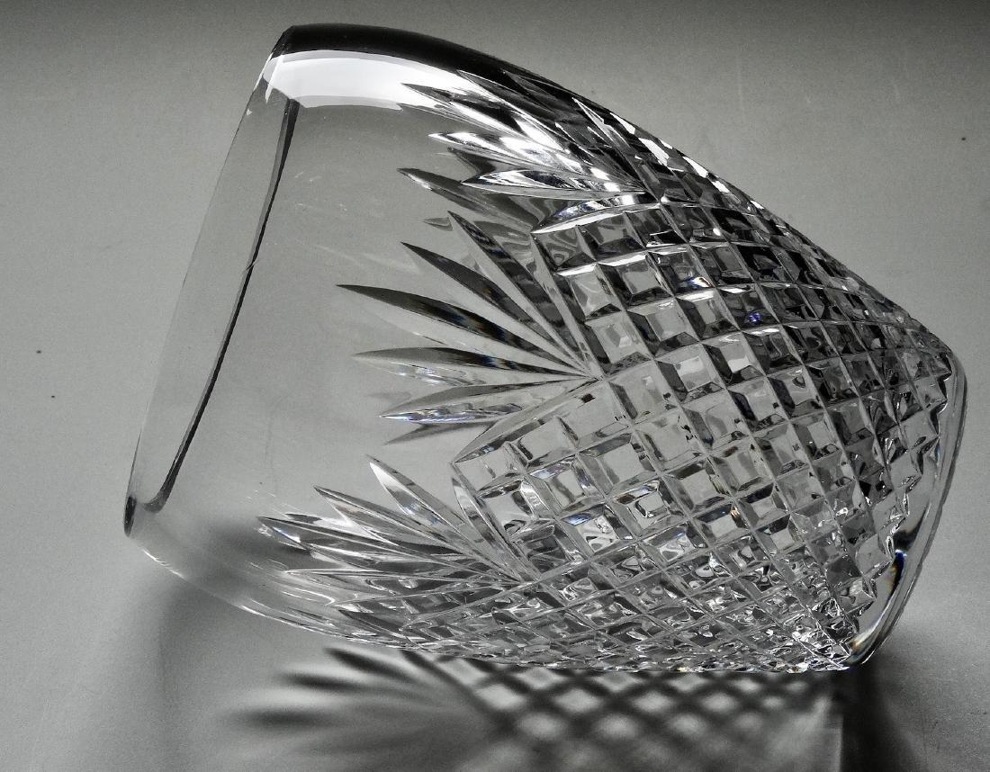 Crystal Flower Vase Diamond Fan Pattern