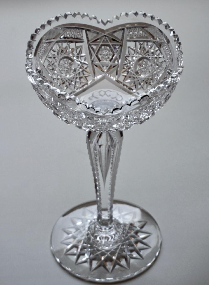 Antique American Crystal Compote ABP