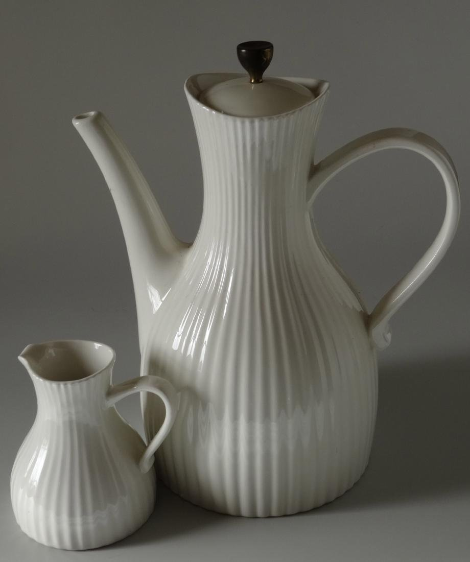 Large Art Deco Coffee Pot Matching Creamer USA Vintage