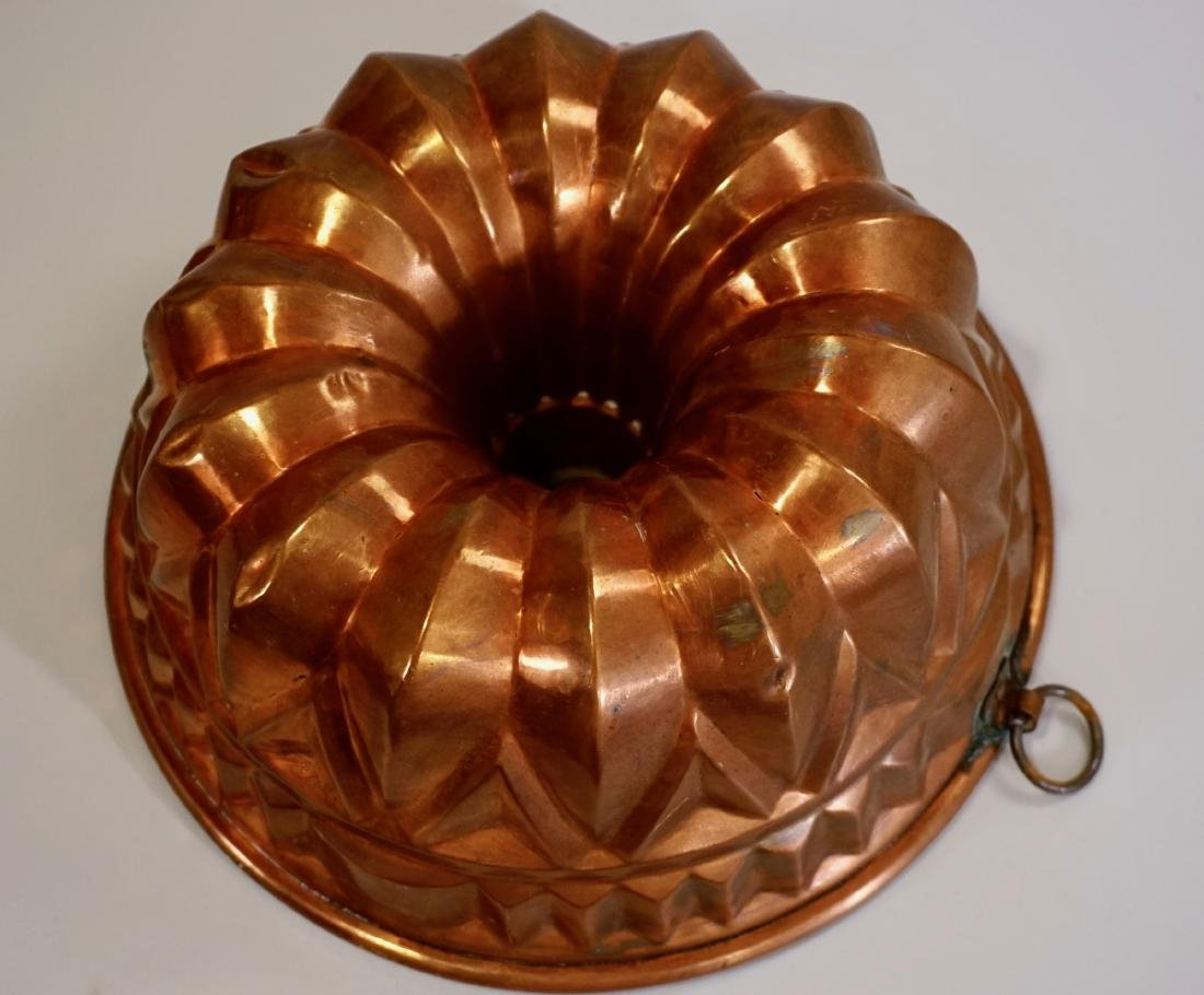 Antique Copper Baking Mold Made In Germany Gugelhupf
