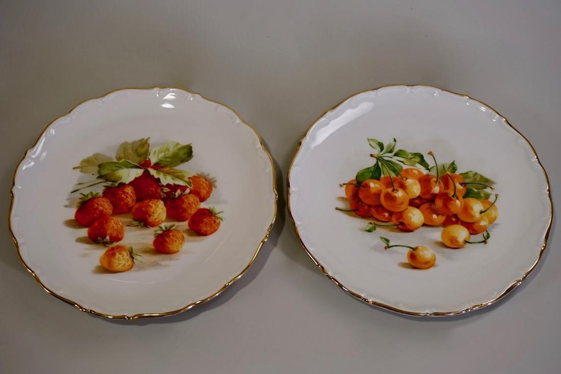 Schumann Arzberg Fruit Plates Cherry Strawberry Vintage