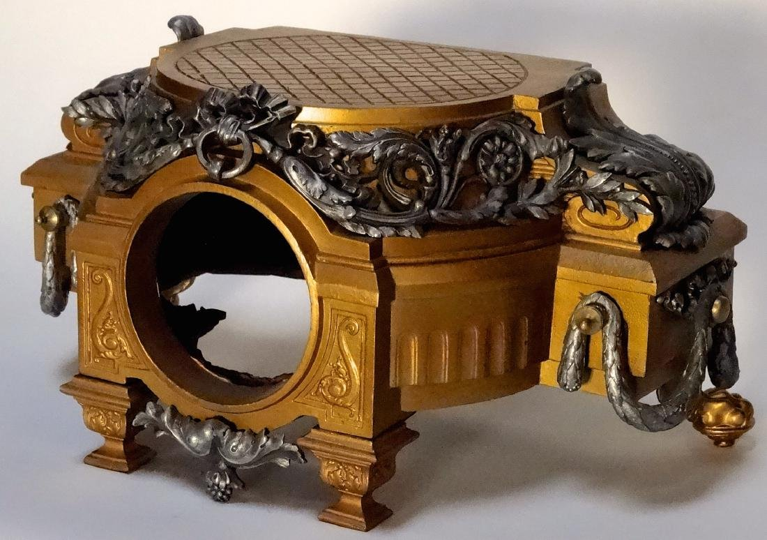 Large French Antique Baroque Style Mantel Clock Case