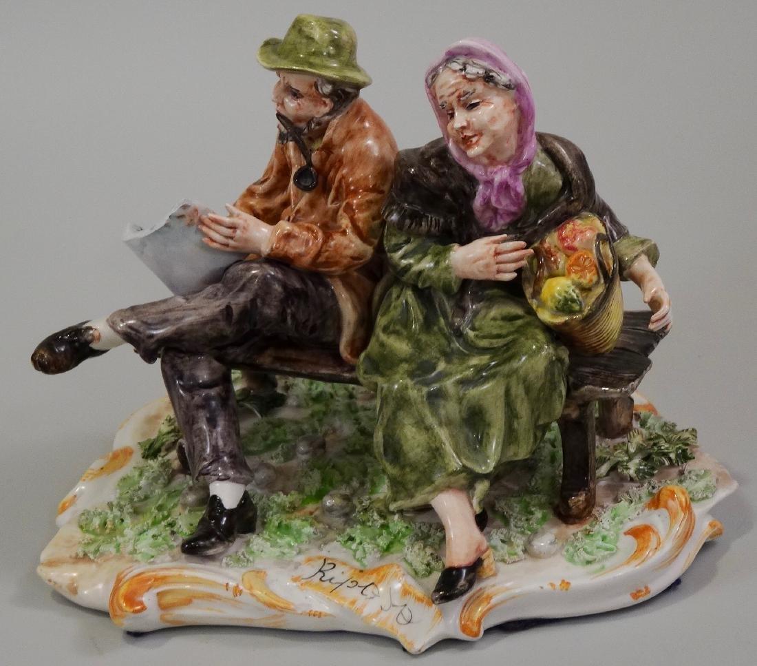 Italian Capodimonte Style Porcelain Figural Group
