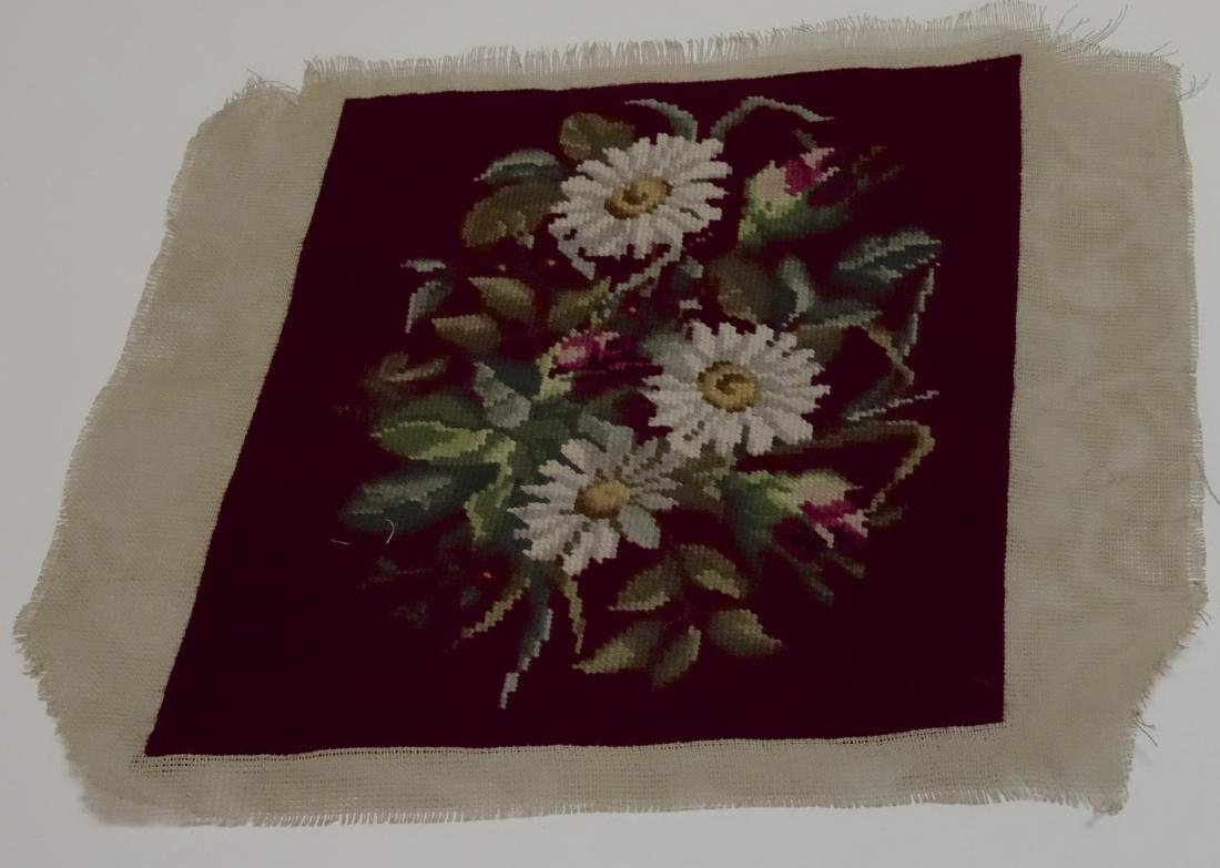 Vintage Daisy Needlepoint Pillow or Upholstery Project