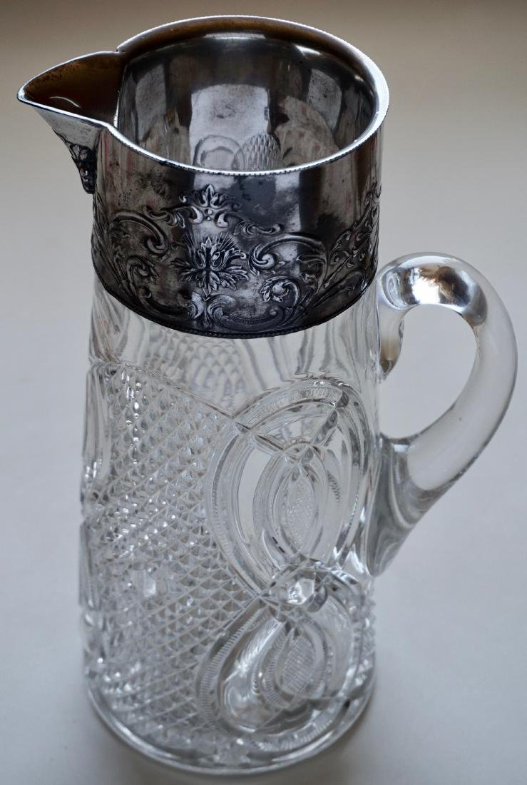 Antique Victorian Pressed Glass Pitcher