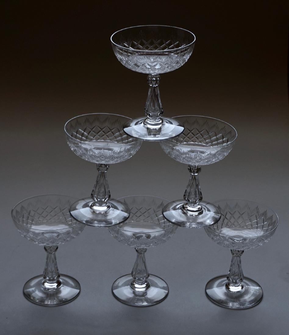 Antique Crystal Champagne Coupes Cut Glass Cocktail