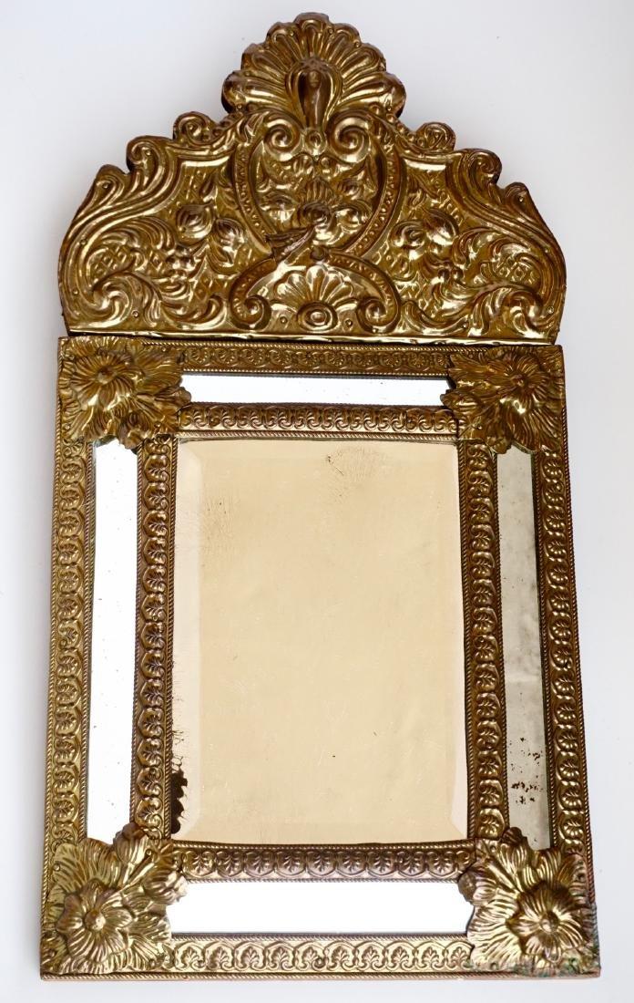 Renaissance Revival Antique 19th Century Embossed Brass