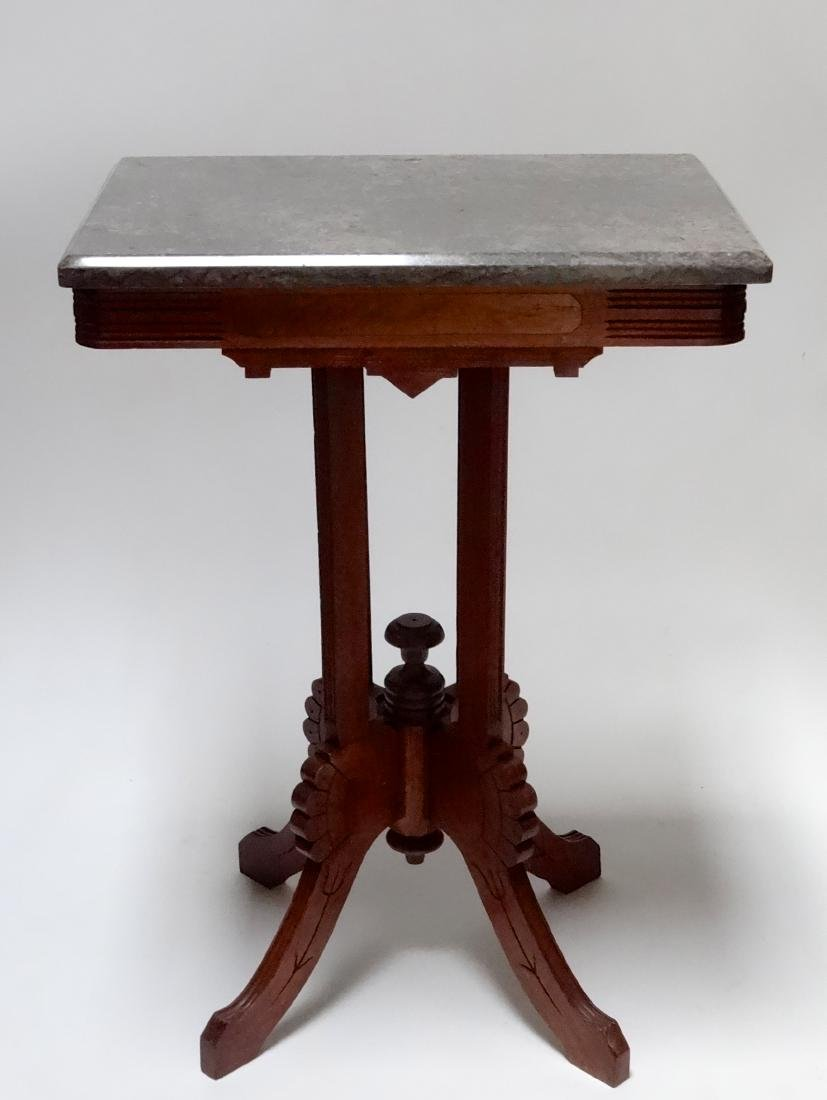 Late 19th Century American Eastlake Marble Top Stand