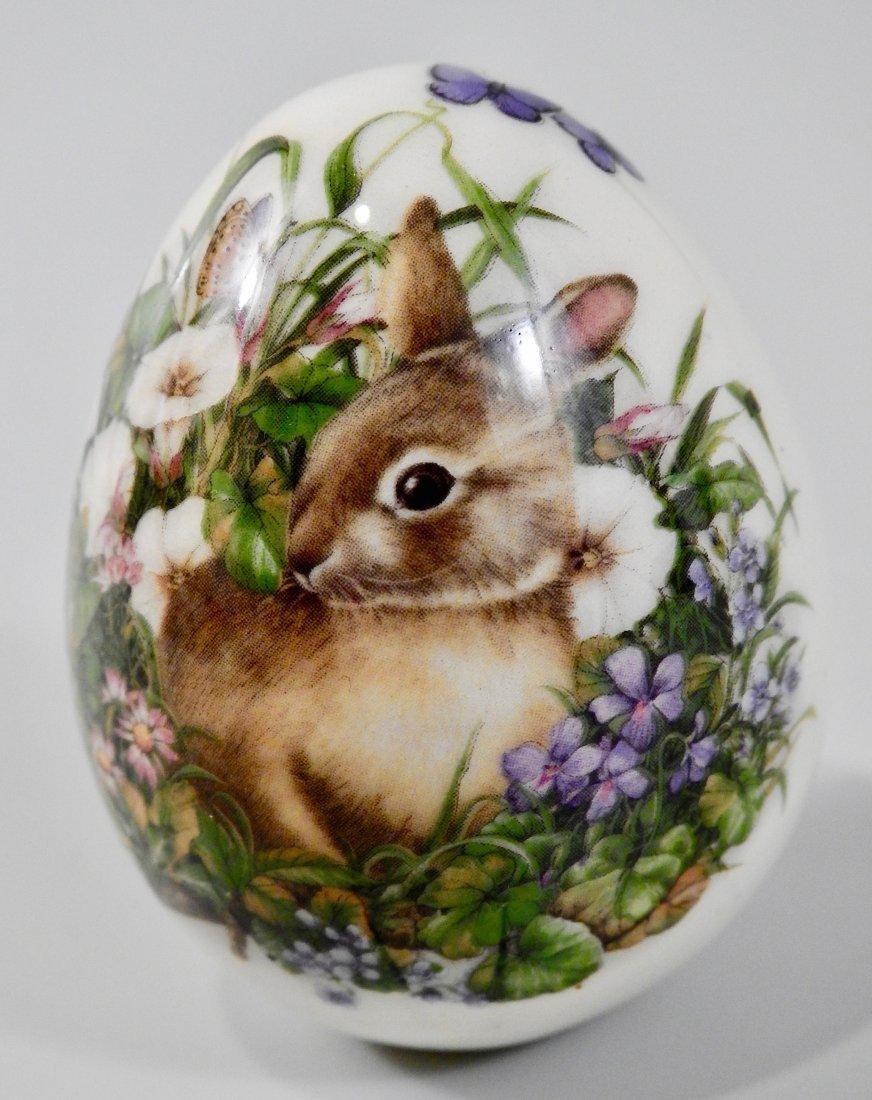 Vintage Easter Bunny Porcelain Egg