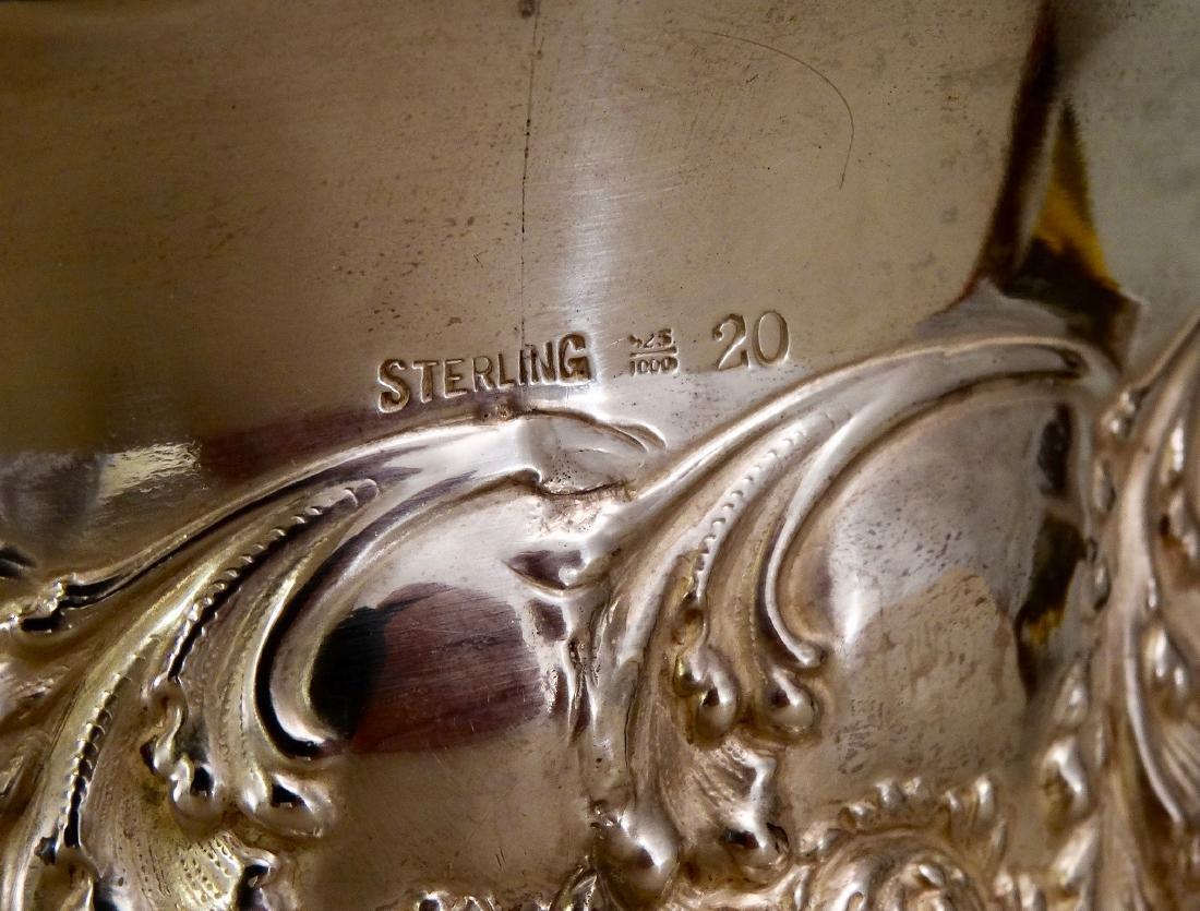 Wine Champagne Sterling Silver Bottle Coaster Unique - 3