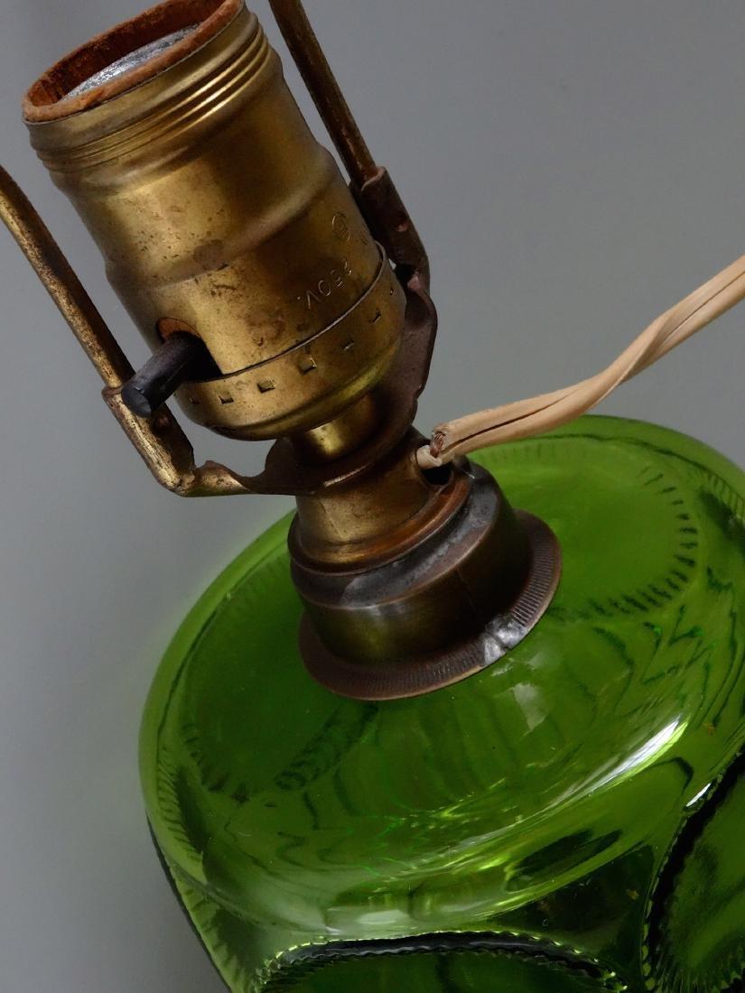 Antique Early American Green Pattern Glass Kerosene - 7