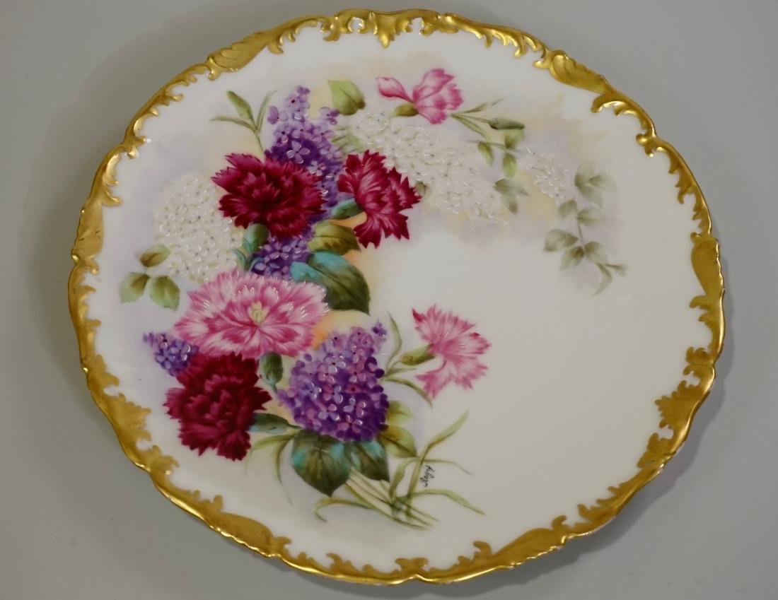 T&V Limoge Signed Regis Hand Painted Porcelain Plate