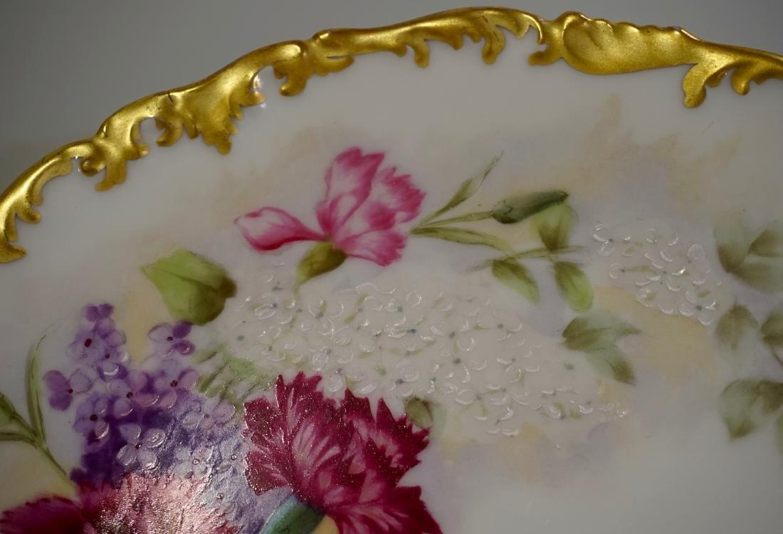 T&V Limoge Signed Regis Hand Painted Porcelain Plate - 2