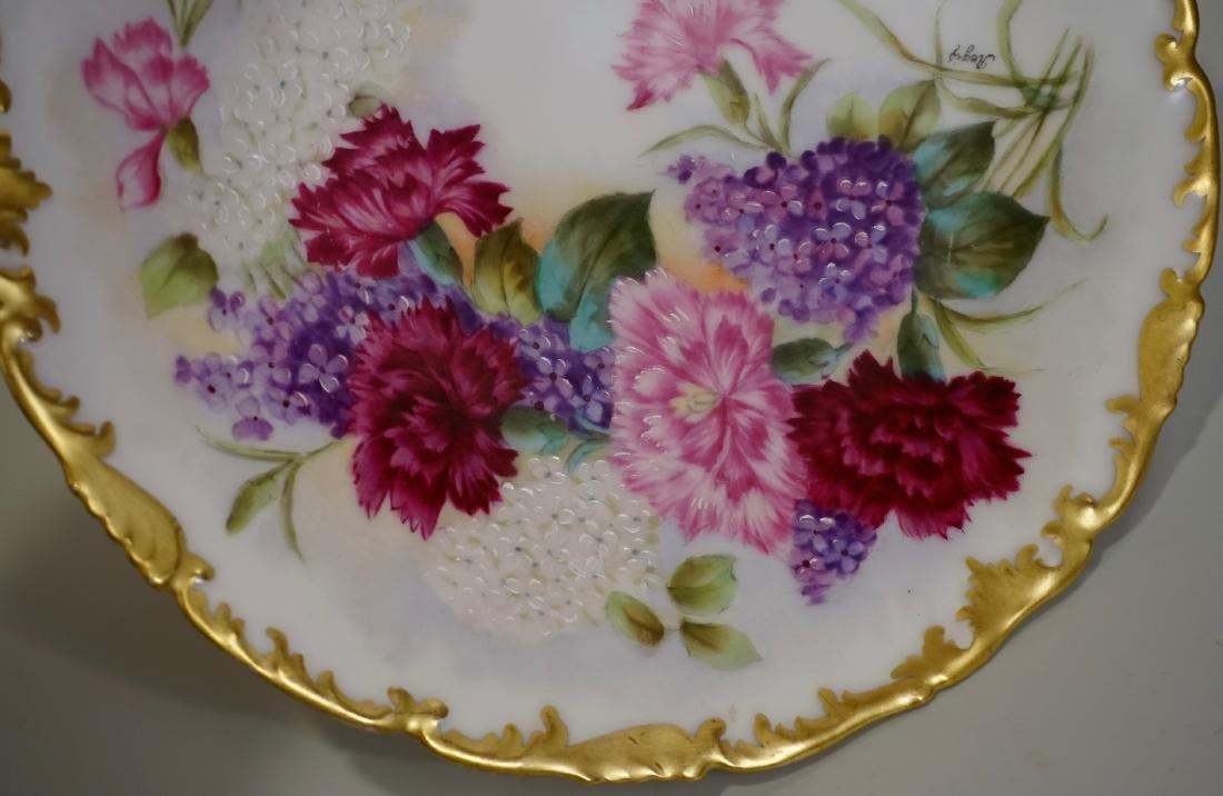 T&V Limoge Signed Regis Hand Painted Porcelain Plate - 3
