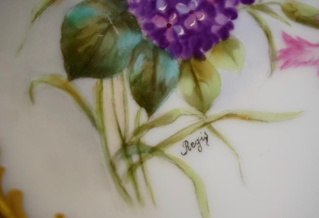 T&V Limoge Signed Regis Hand Painted Porcelain Plate - 4