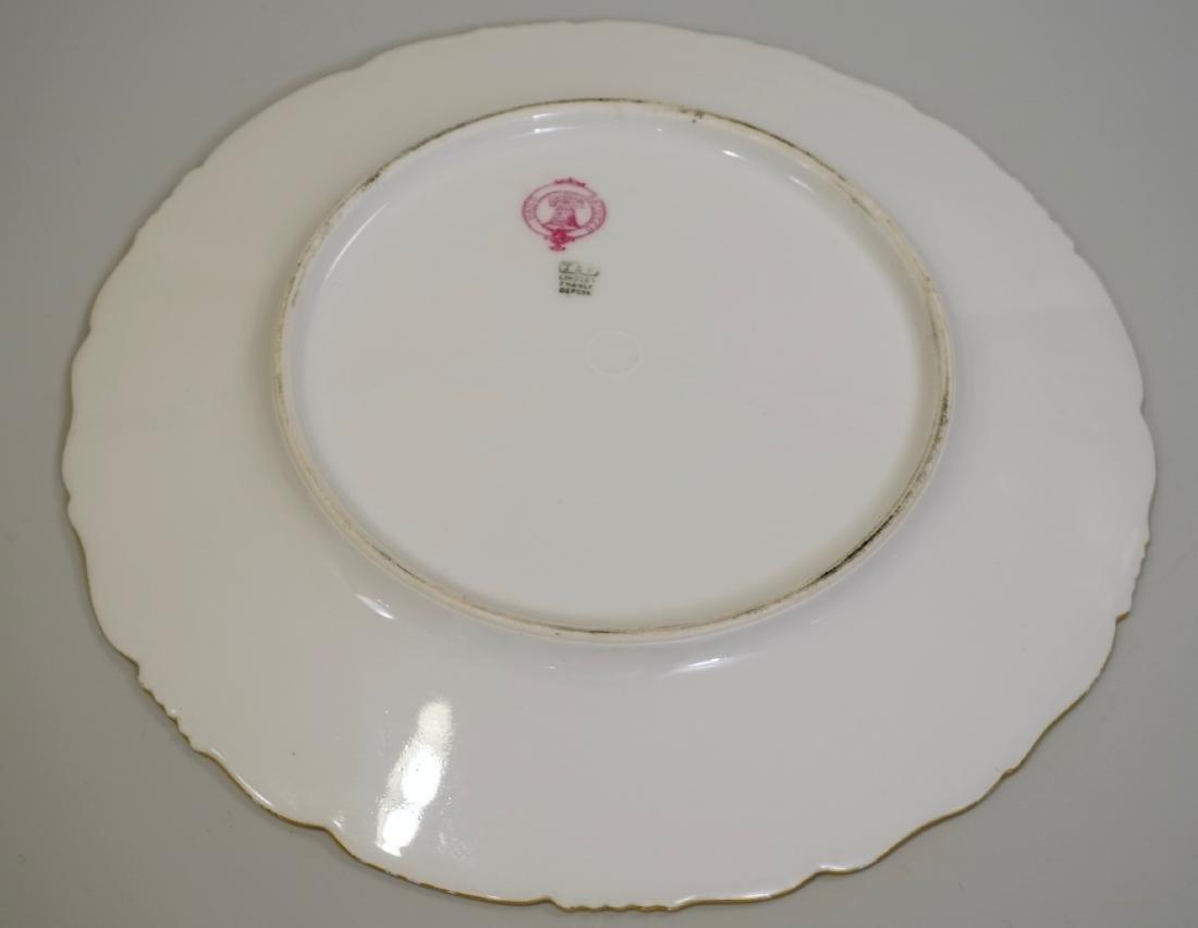 T&V Limoge Signed Regis Hand Painted Porcelain Plate - 5