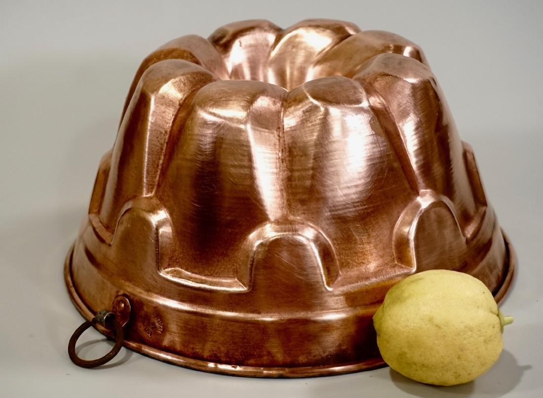 Medium Italian Copper Baking Mold Wall Plaque
