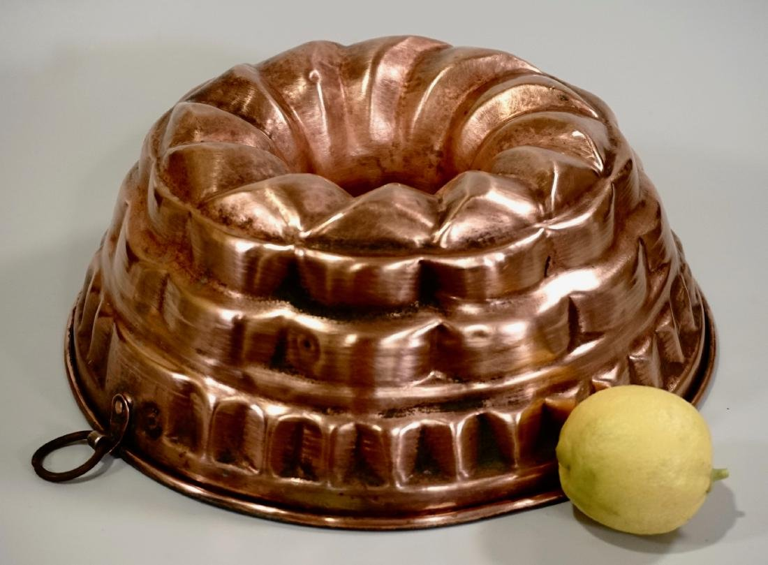 Large Italian Copper Baking Mold Wall Plaque