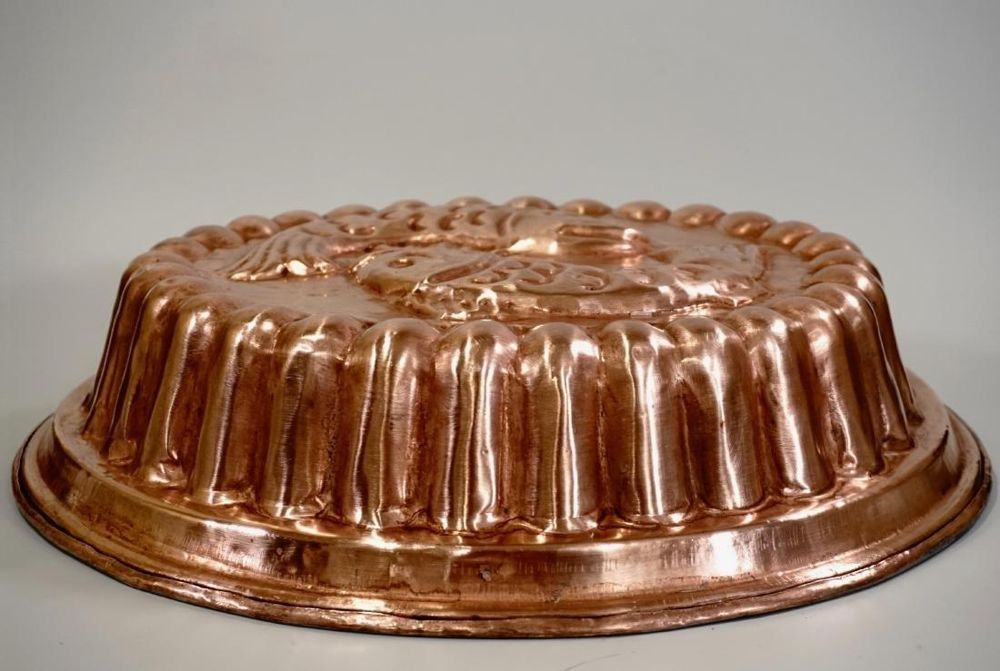 Italian Copper Oval Mold Fishes Kitchen Decor Wall - 2