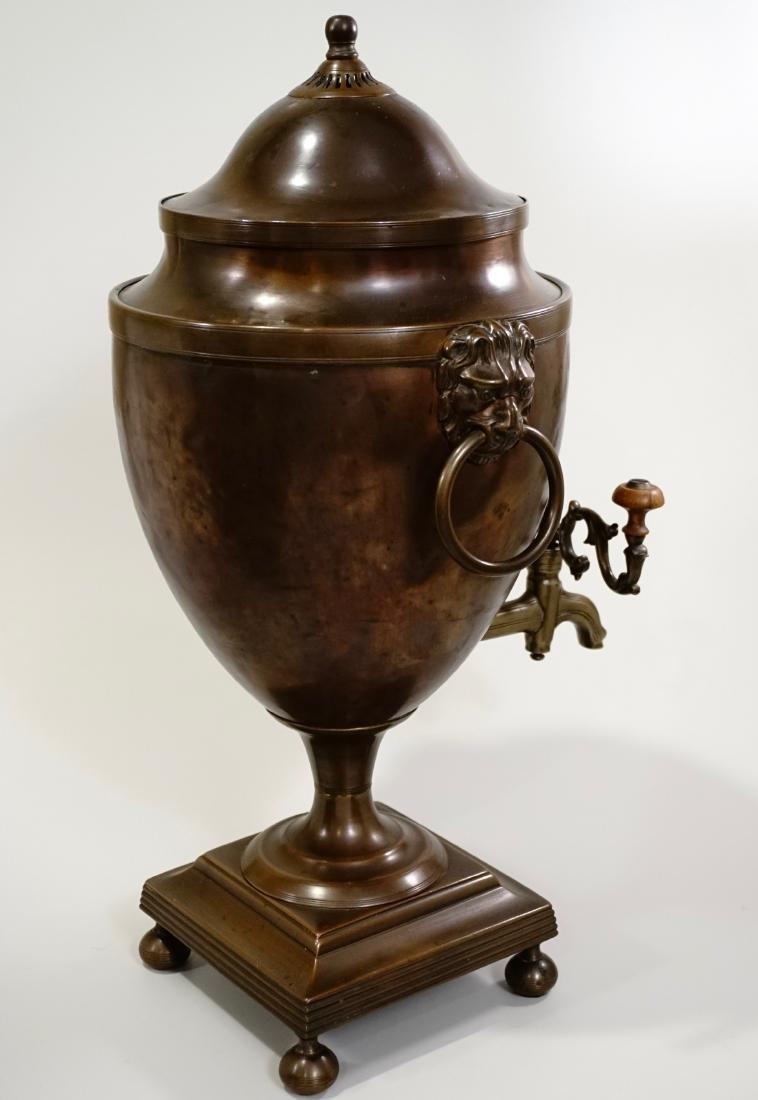 18th Century British Copper Tea Vase Early Georgian c - 3