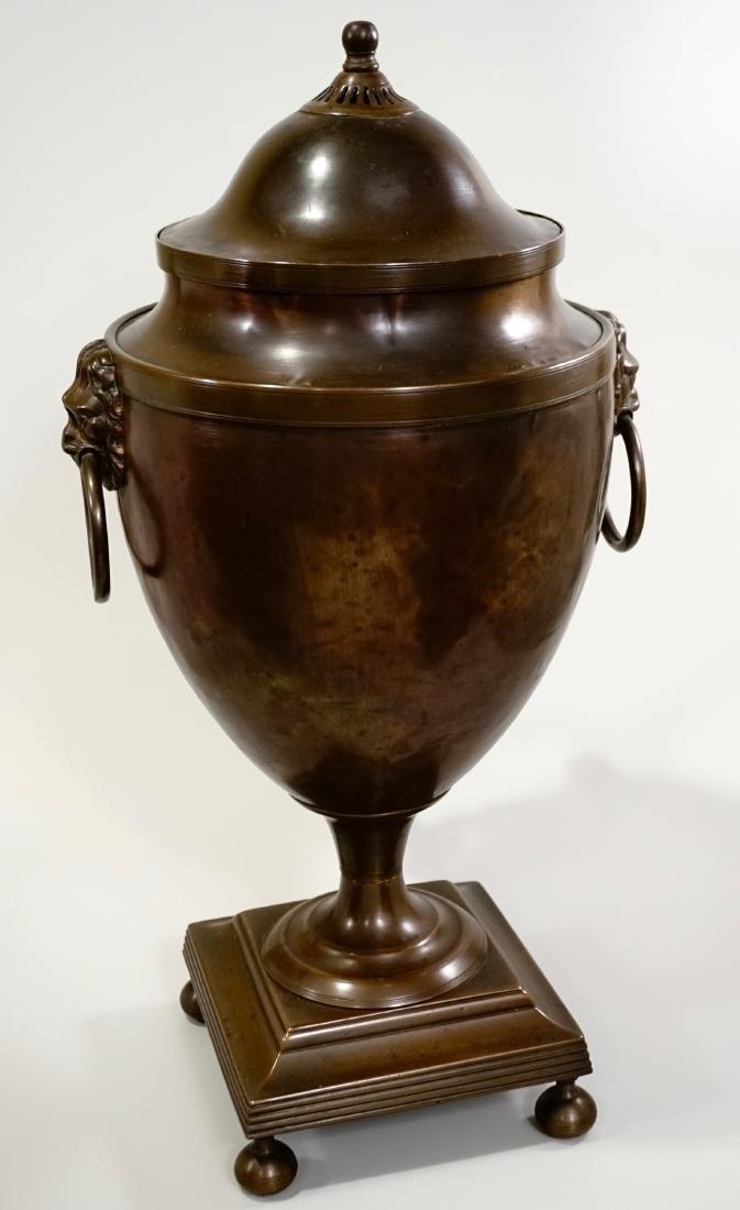 18th Century British Copper Tea Vase Early Georgian c - 4