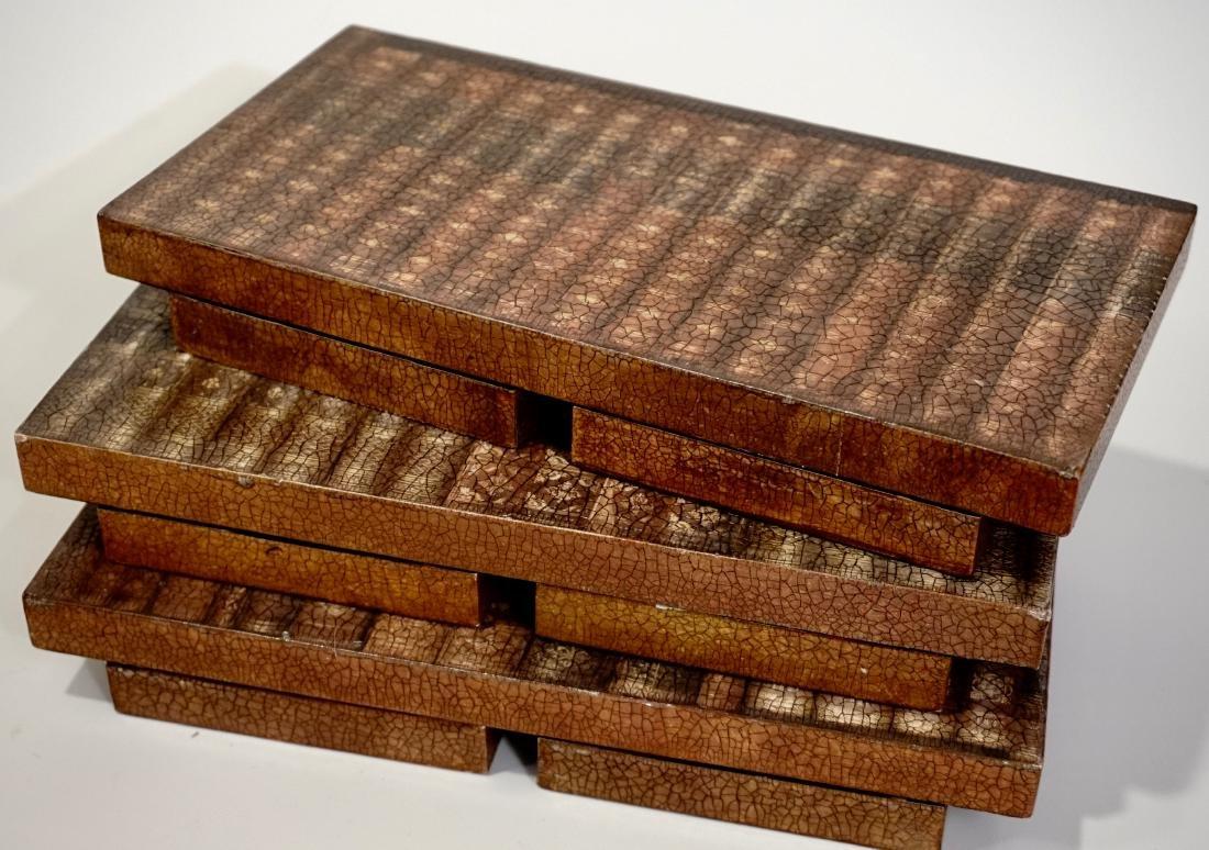 Trompe Alley Faux Book Shelf Hide Foldable Tray Lot of - 2