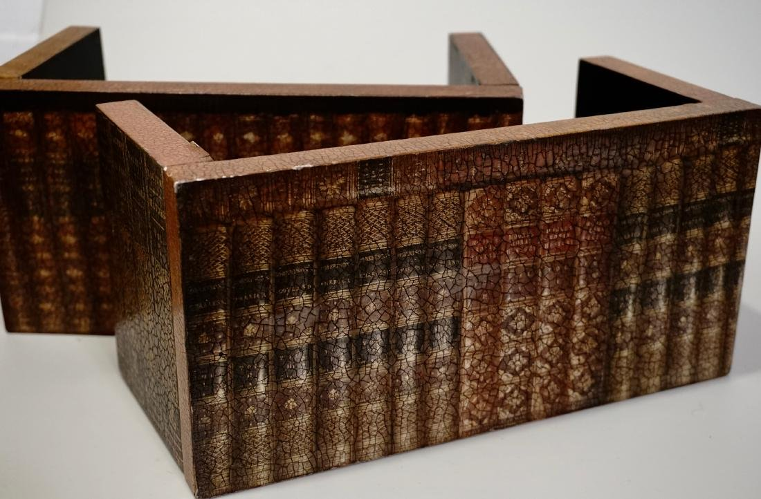 Trompe Alley Faux Book Shelf Hide Foldable Tray Lot of - 6