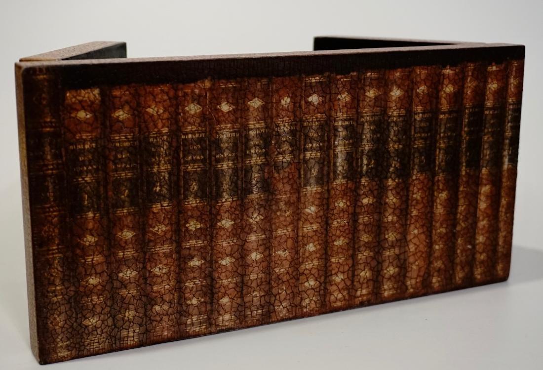 Trompe Alley Faux Book Shelf Hide Foldable Tray Lot of - 7