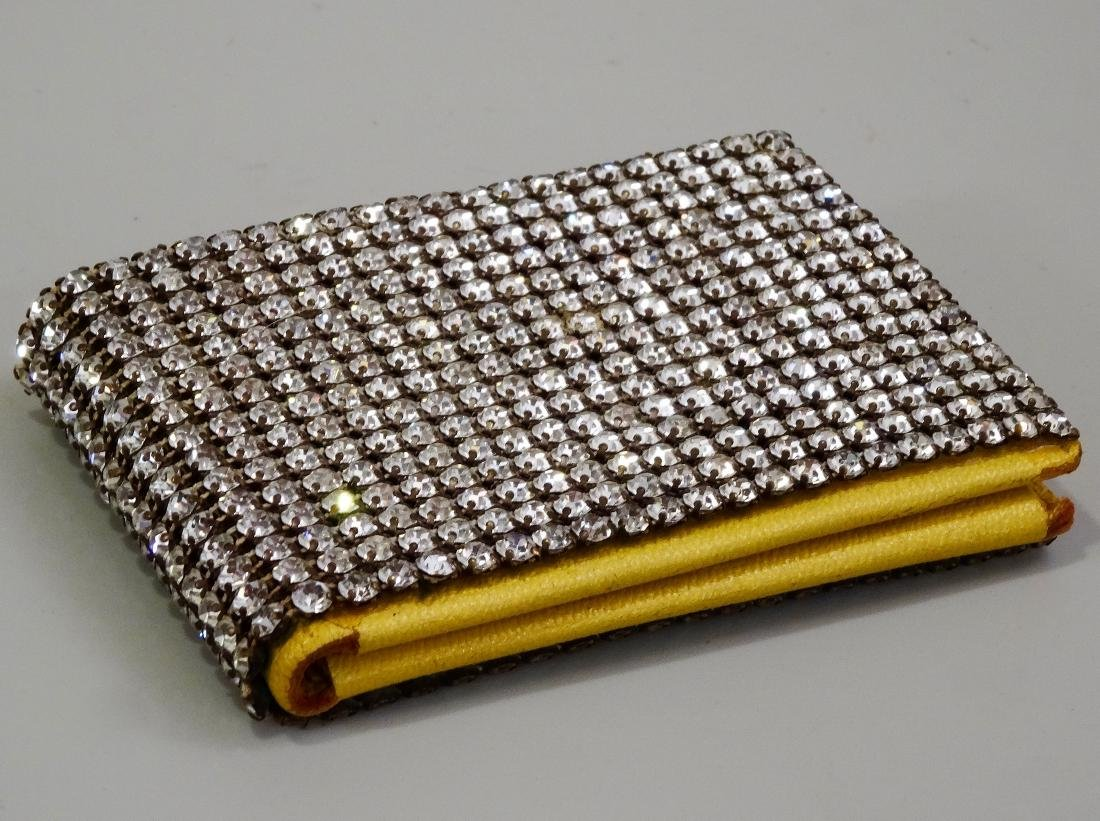 Princess Gardner Vintage Jeweled Yellow Leather Bifold - 2