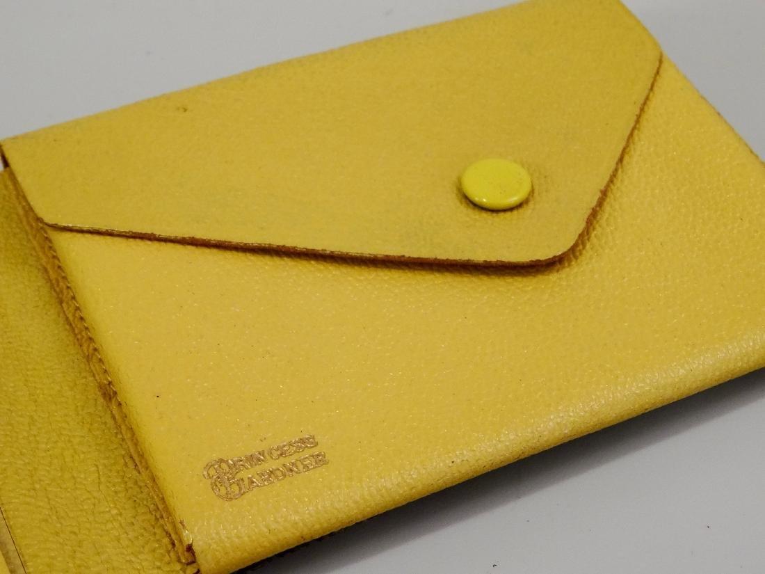 Princess Gardner Vintage Jeweled Yellow Leather Bifold - 6