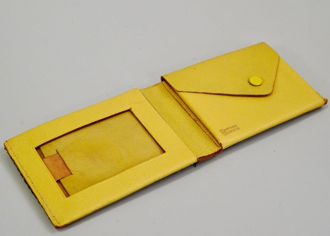 Princess Gardner Vintage Jeweled Yellow Leather Bifold - 8
