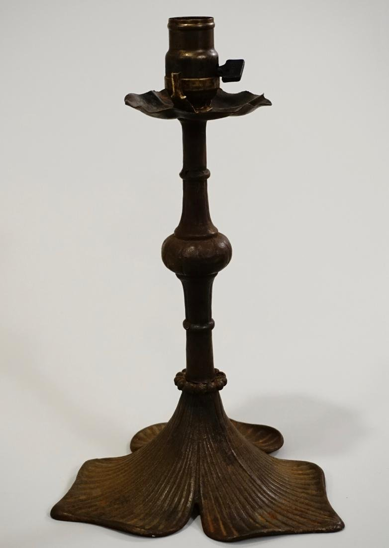 Cast Iron Lamp Base Perkins Socket Marked on the Switch - 2
