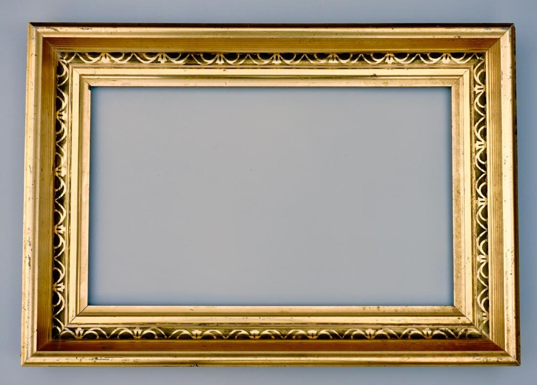 Lemon Gold Antique Frame 19th Century Rectangular Wood