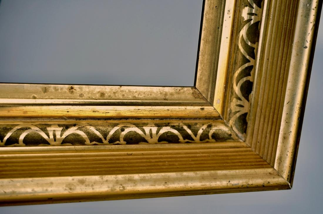 Lemon Gold Antique Frame 19th Century Rectangular Wood - 6