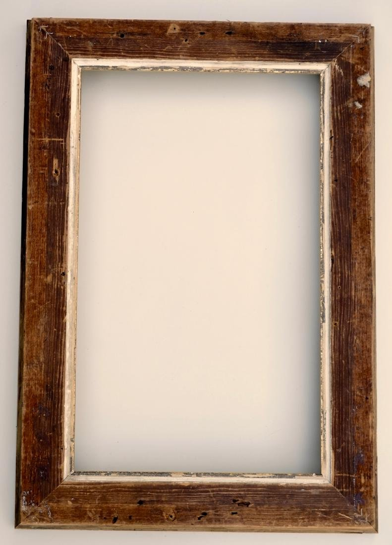 Lemon Gold Antique Frame 19th Century Rectangular Wood - 7