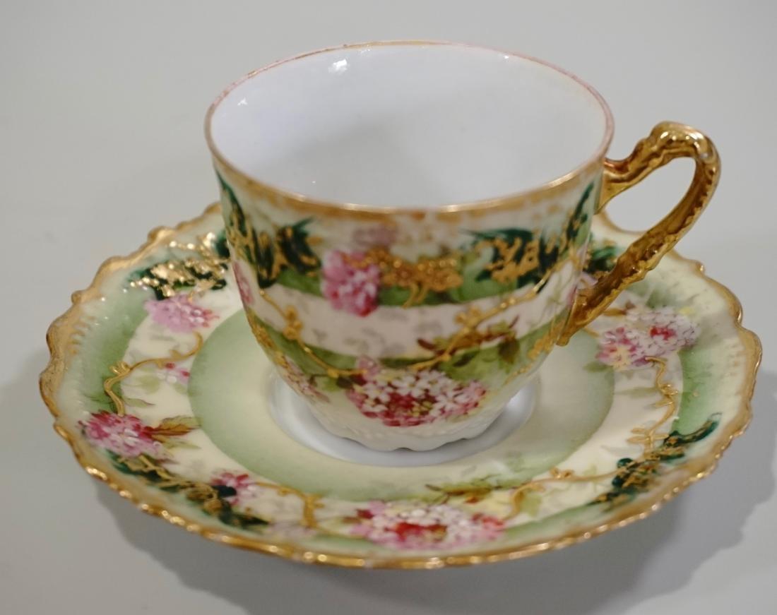Limoges Porcelain Demitasse Cup Saucer Set Antique - 2