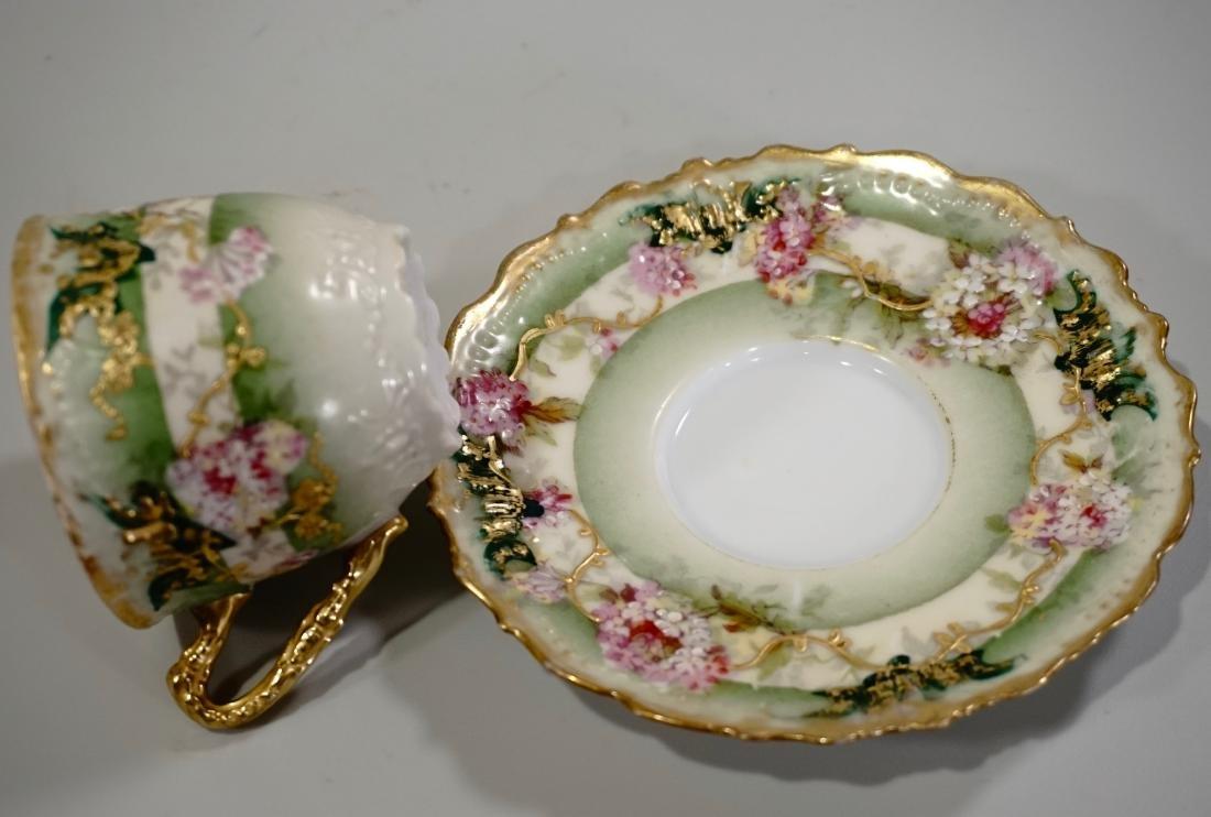 Limoges Porcelain Demitasse Cup Saucer Set Antique - 4
