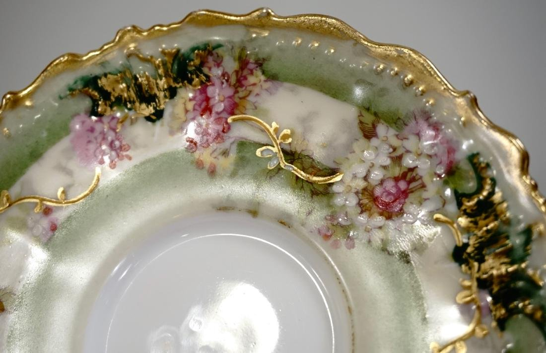 Limoges Porcelain Demitasse Cup Saucer Set Antique - 5