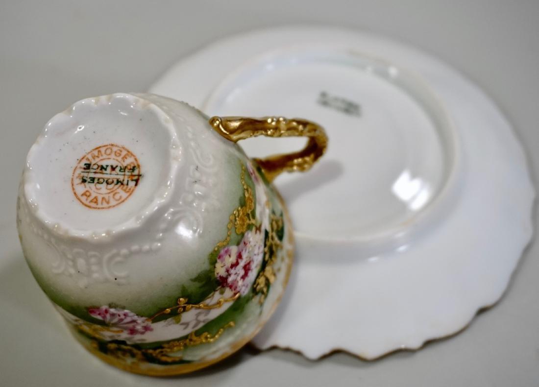 Limoges Porcelain Demitasse Cup Saucer Set Antique - 6
