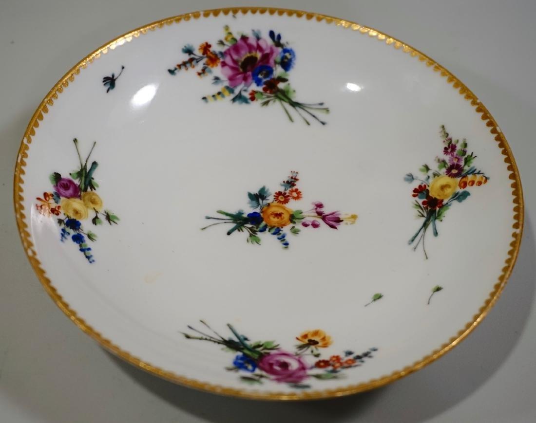 Meissen Porcelain Floral Encrusted Demitasse Cup - 3