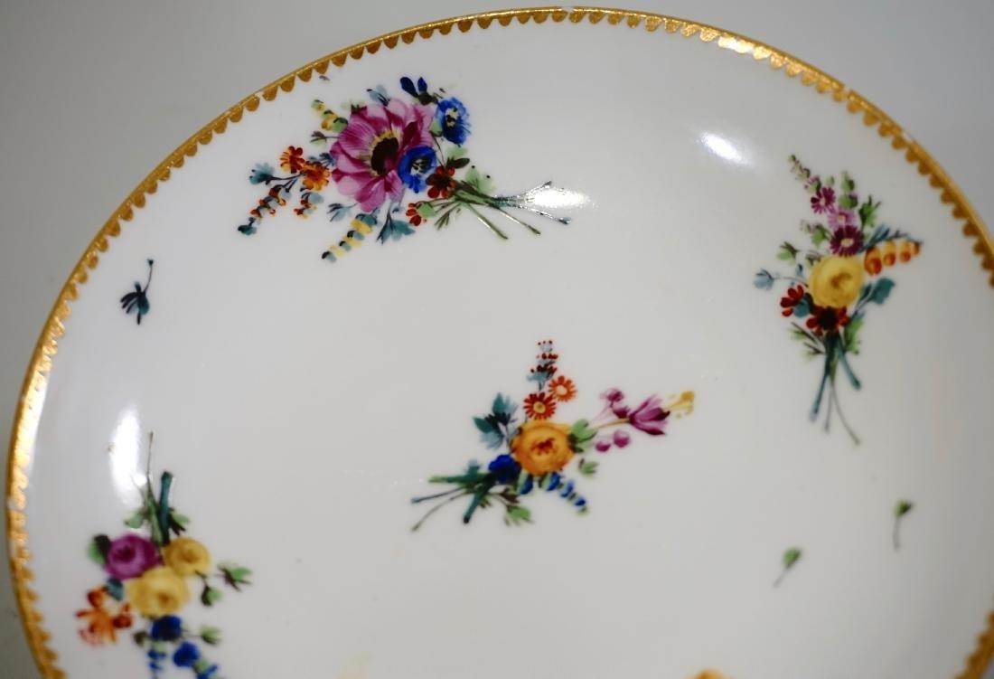 Meissen Porcelain Floral Encrusted Demitasse Cup - 4