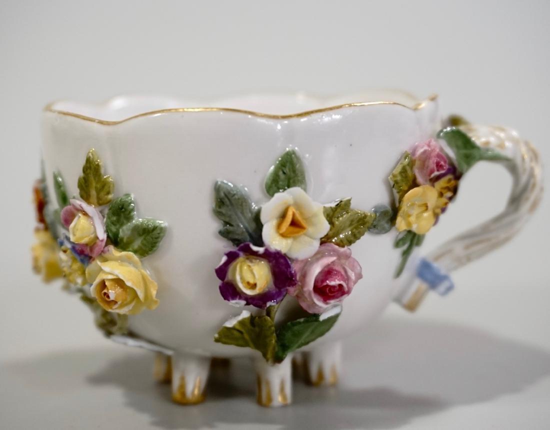 Meissen Porcelain Floral Encrusted Demitasse Cup - 7