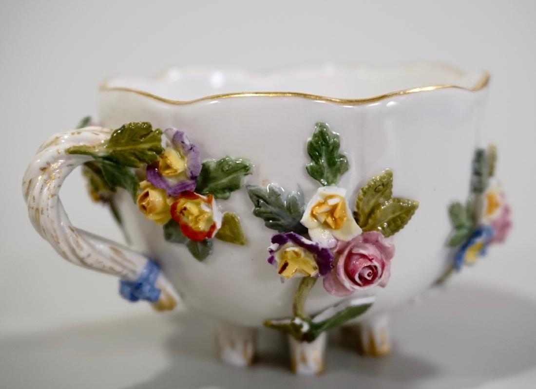 Meissen Porcelain Floral Encrusted Demitasse Cup - 8