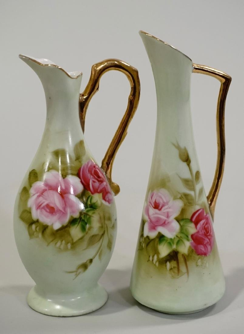 Hand Painted Lefton China Miniature Vase Pair Lot of 2