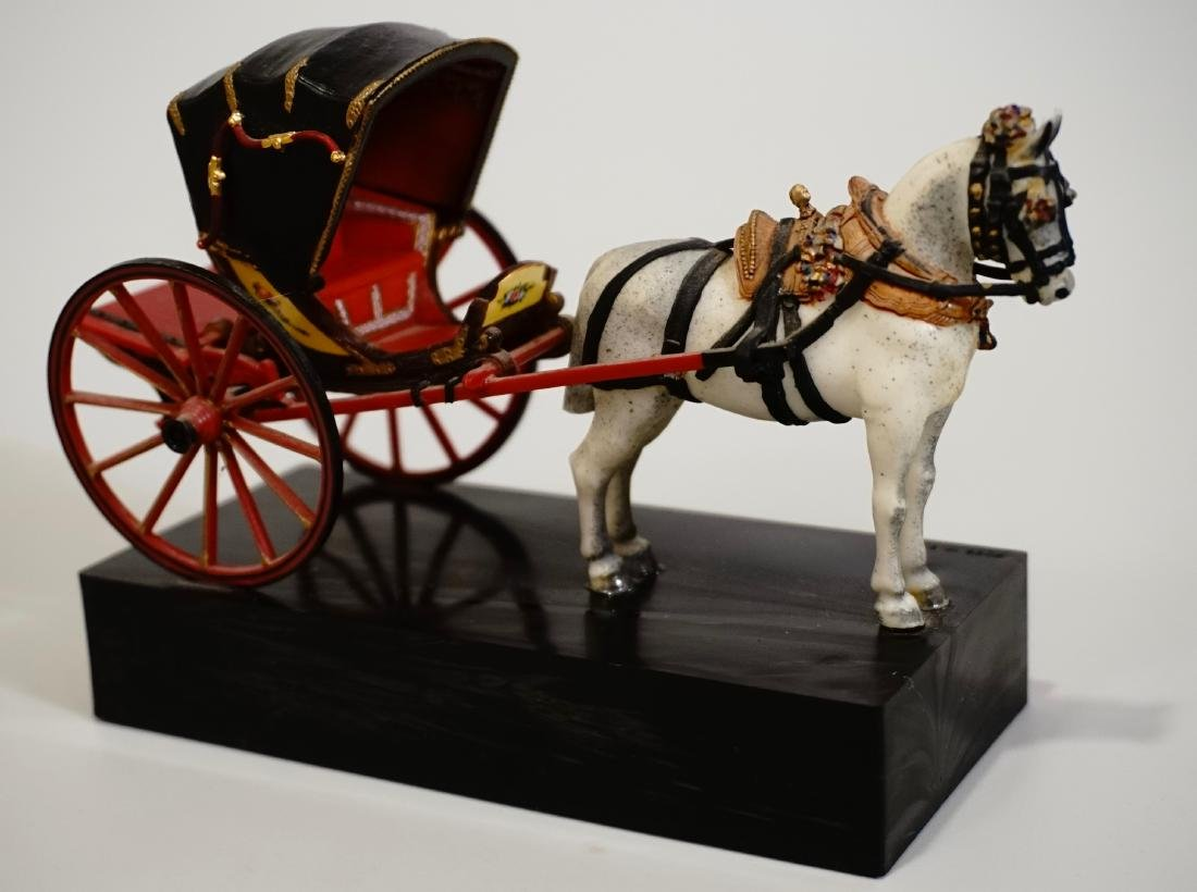Vintage Carriage Precision Miniatures Artesania Museo - 7